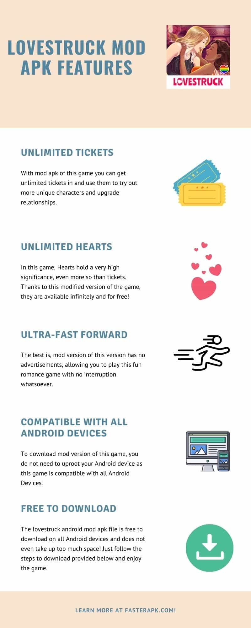 Lovestruck Mod APK Features