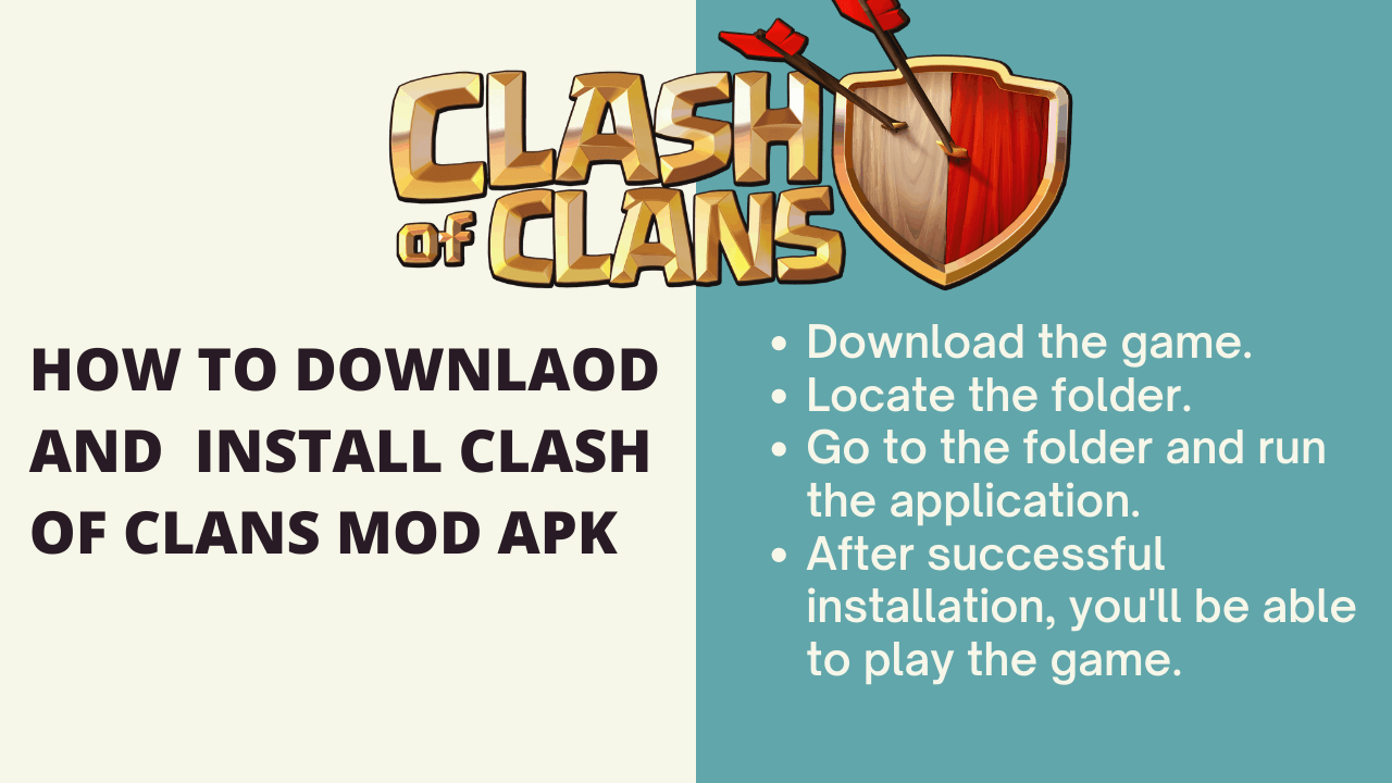 How to Downlaod and install Clash of Clans Mod Apk