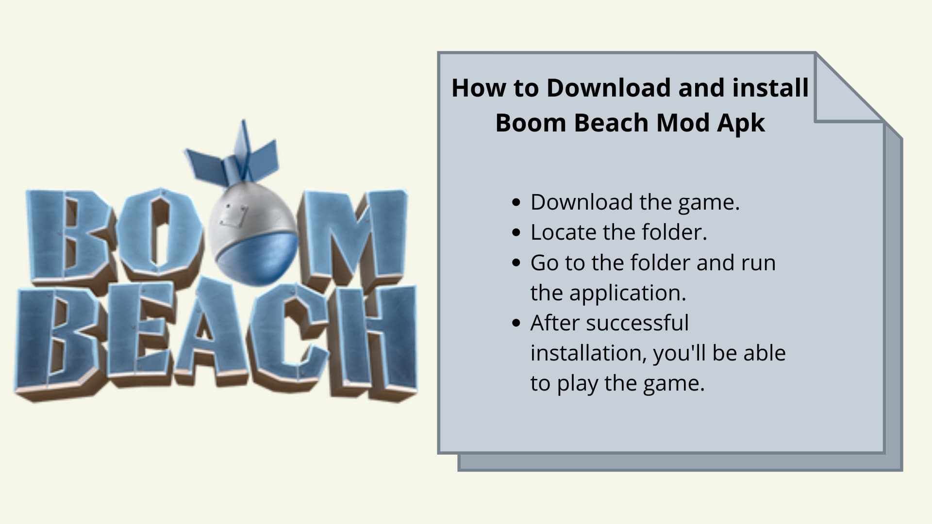 How to Download and install Boom Beach Mod Apk