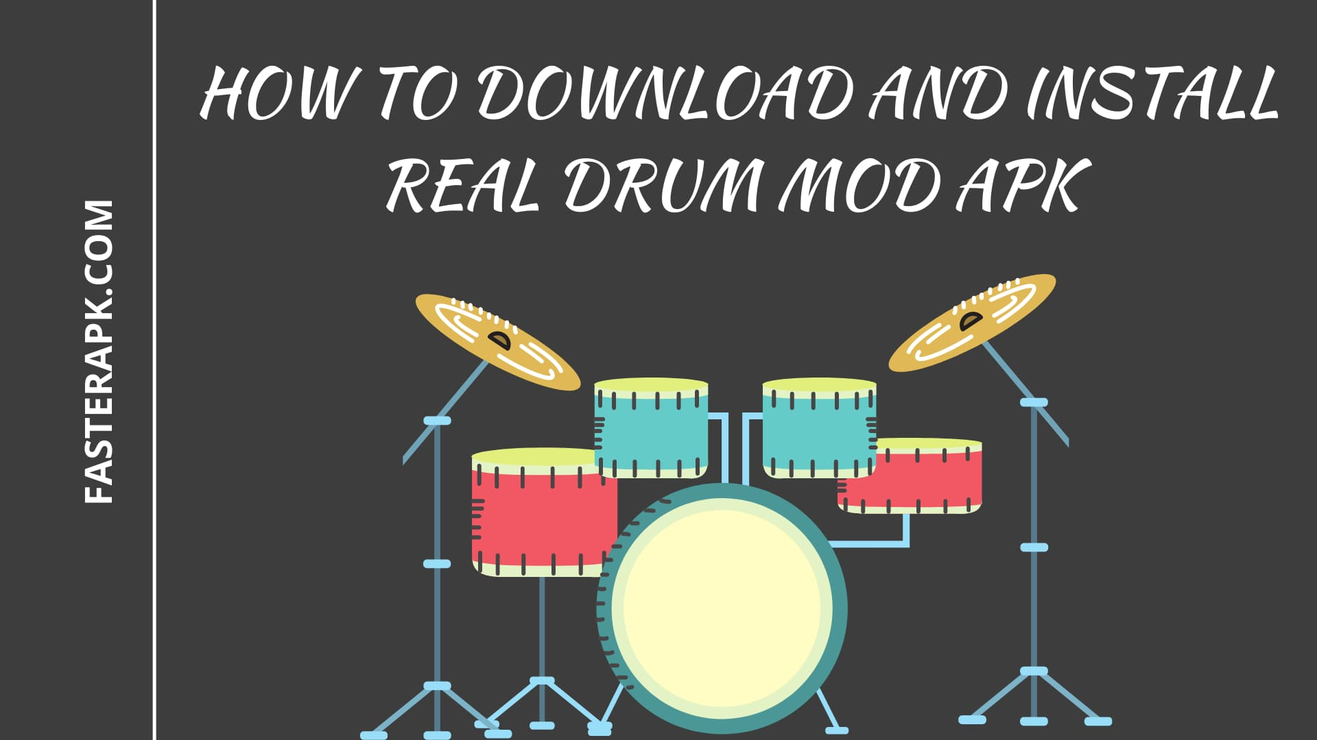 How to Download And install Real Drum mod apk.