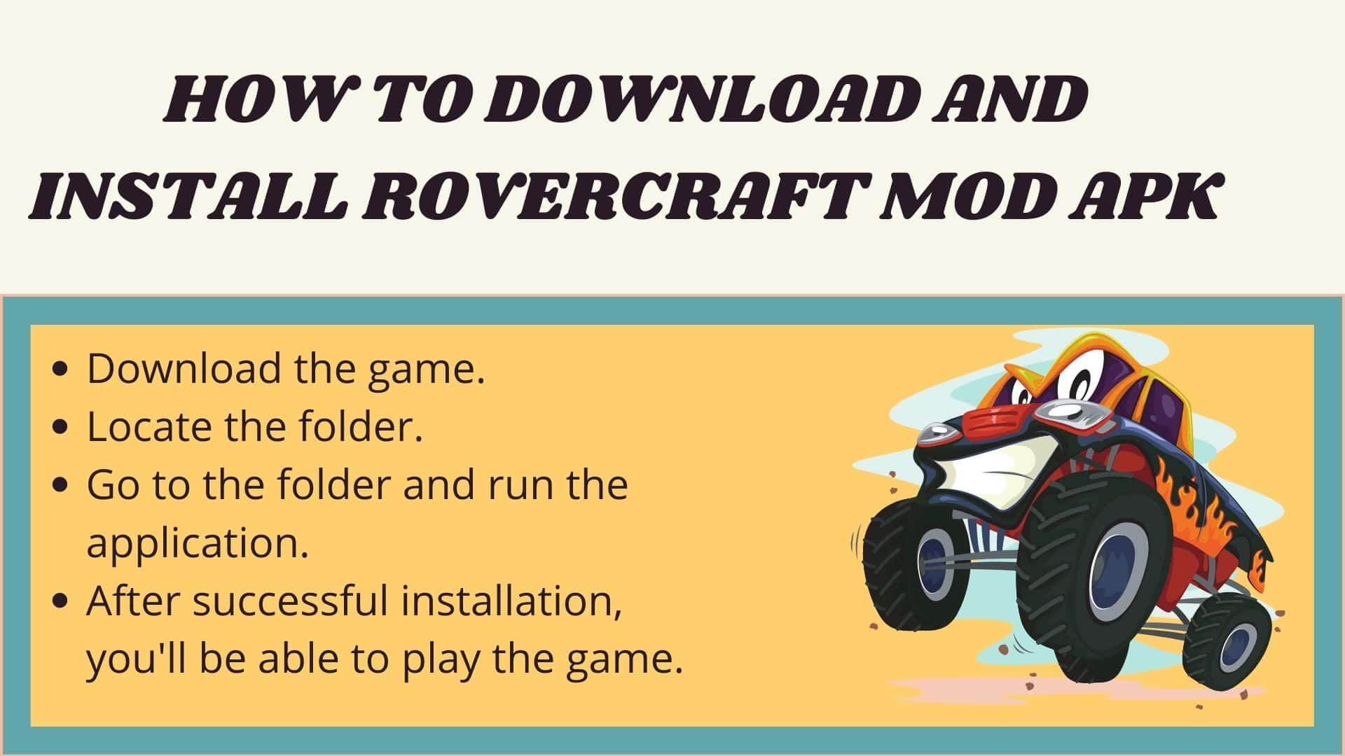 How to Download and install RoverCraft Mod apk