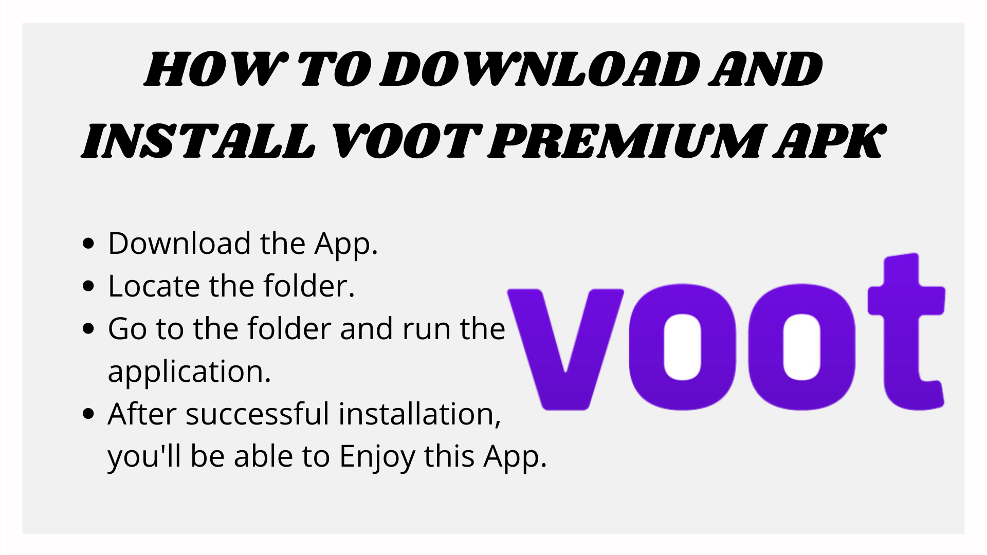 How to Download and install Voot Premium apk