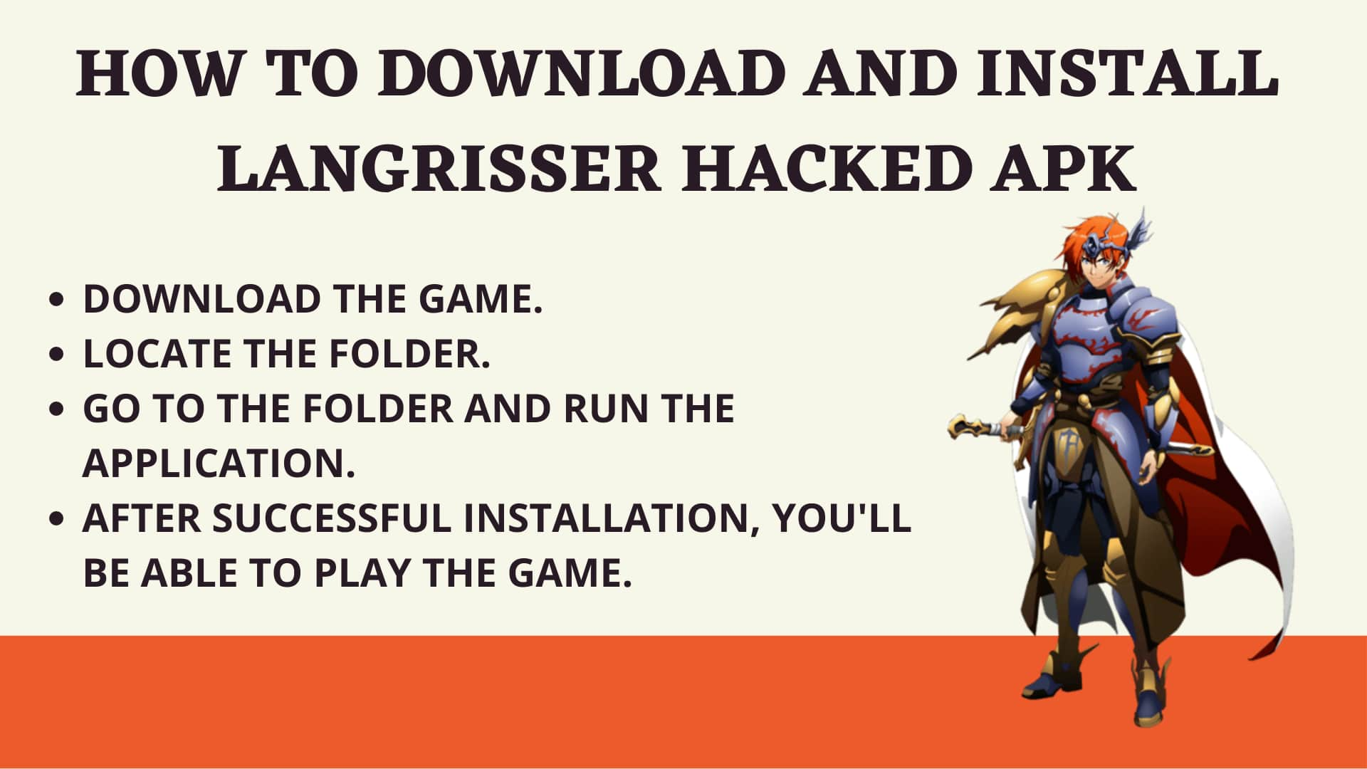 How to download and install Langrisser Hacked apk
