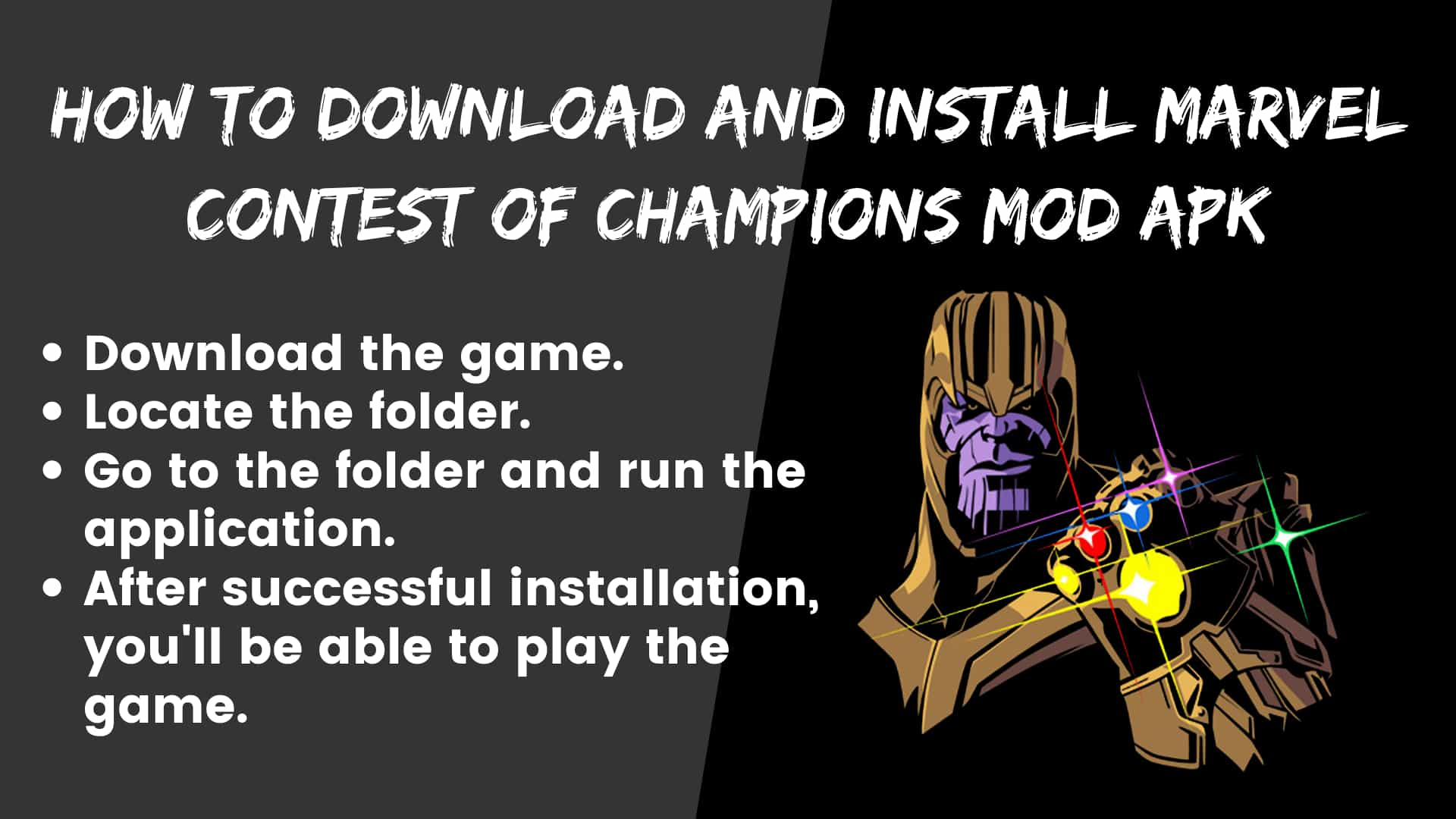 How to download and install Marvel Contest of Champions Mod apk