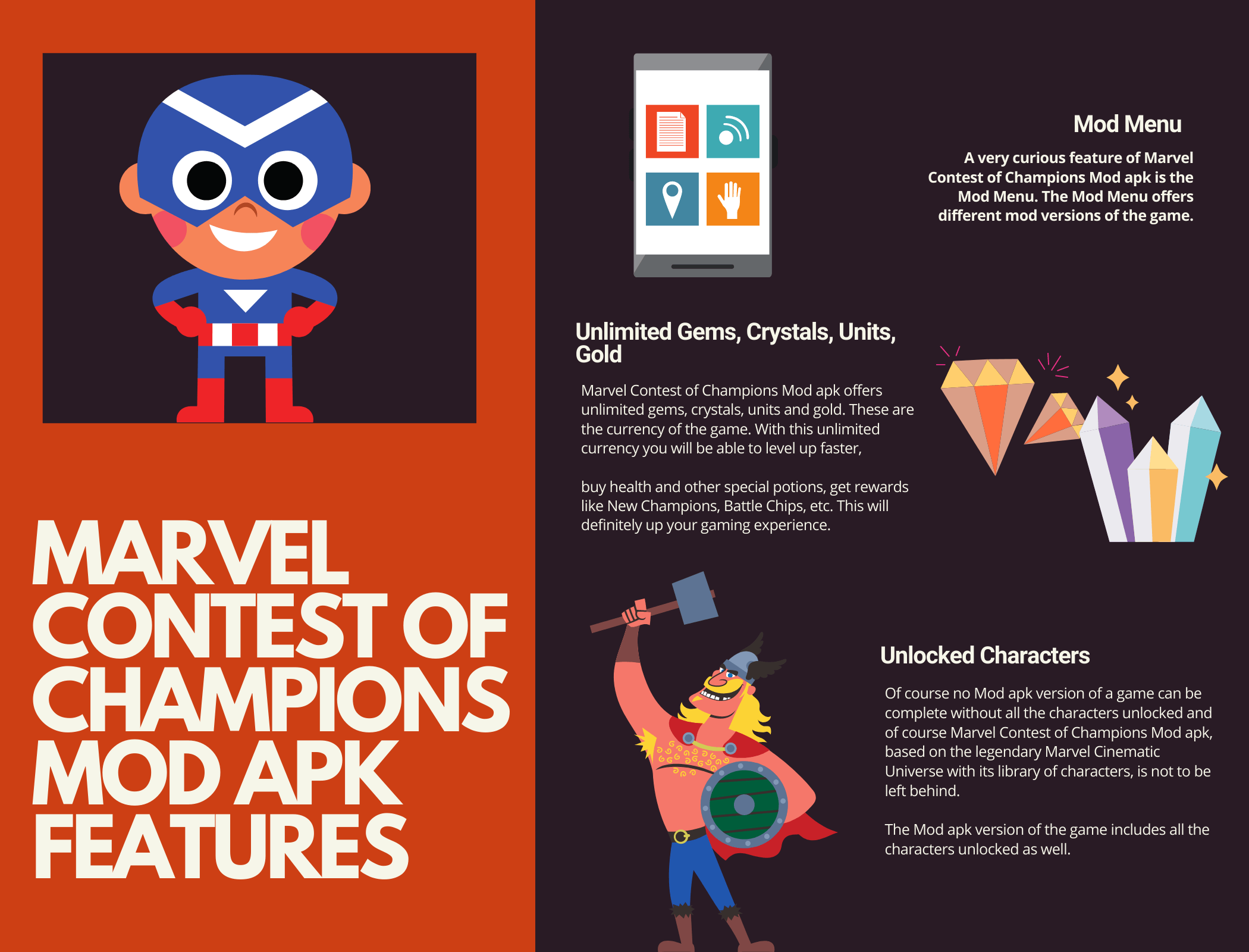 Marvel Contest of Champions Mod apk Features