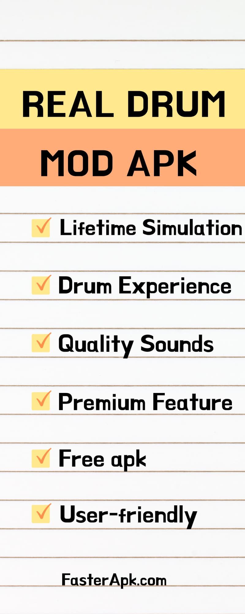 Real Drum Mod Apk Features