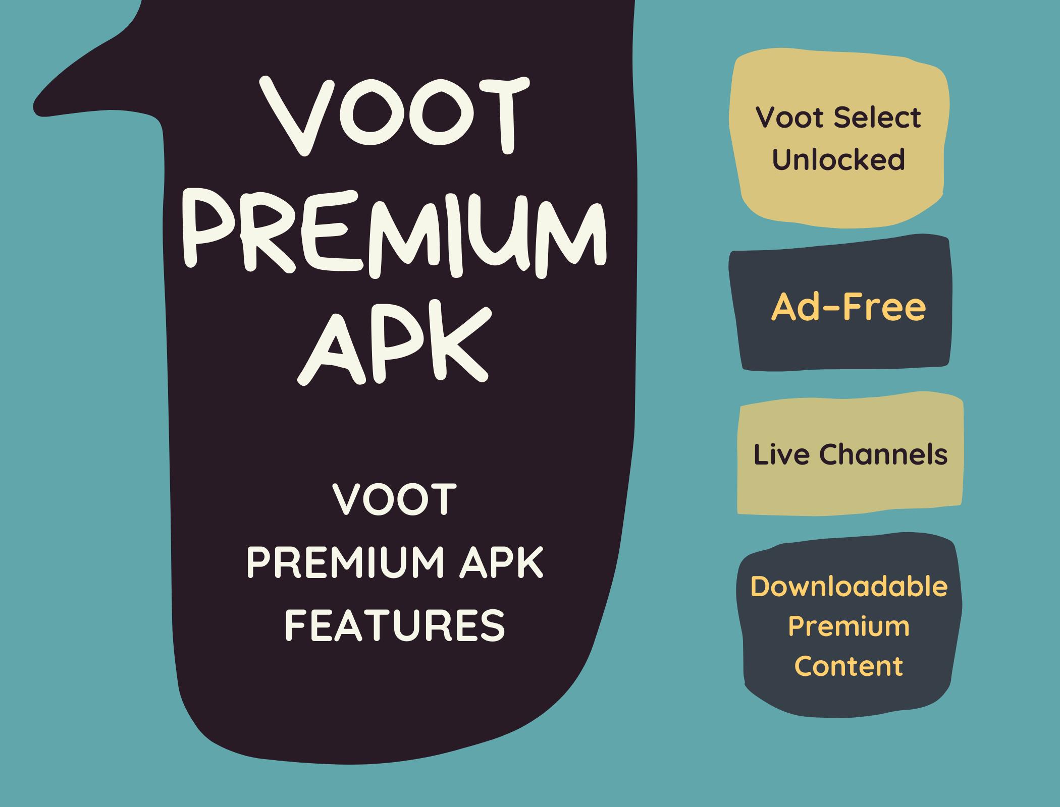Voot Premium apk Features